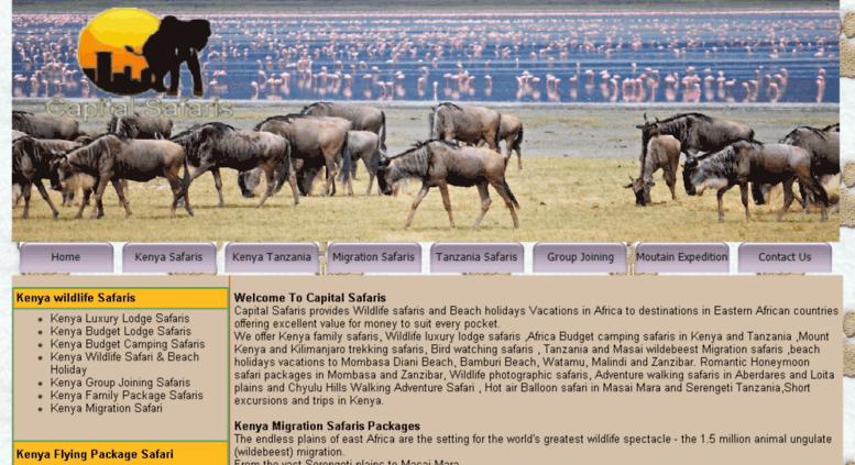 Access capitalsafaris com  Kenya and Tanzania Safari Holiday
