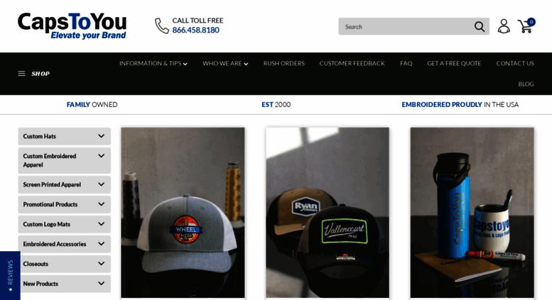 fb6331a6a5065 Access capstoyou.com. Custom Promotional Hats