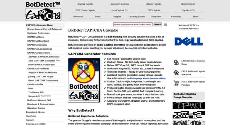 Access captcha biz  BotDetect CAPTCHA Generator