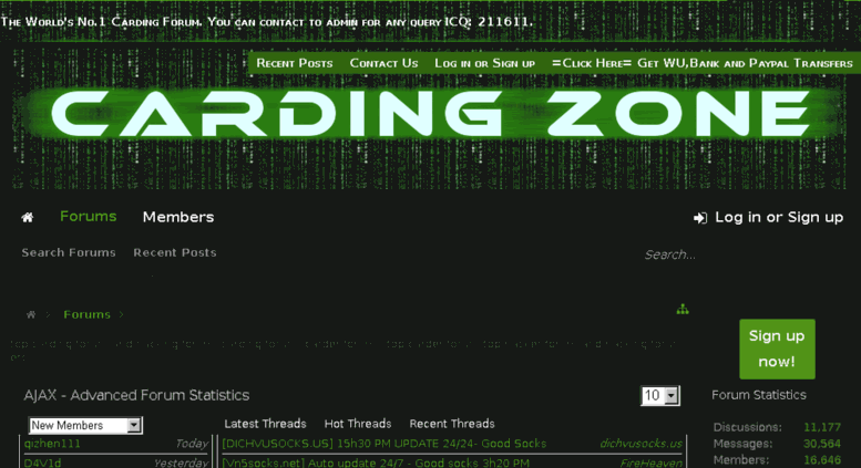 Access cardingzone net  top carding forum and hacking forum