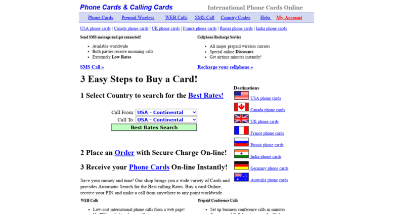 Access cards2phone net  Phone Cards & Calling Cards