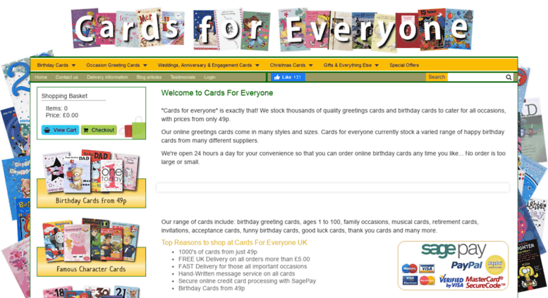 Access Cardsforeveryonecouk Greeting Cards Online UK