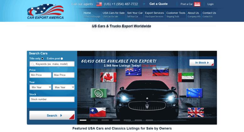 Access Carexportamerica Com Car Export America Buy American Cars