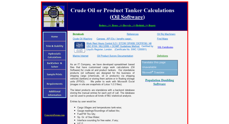Access cargocal com  Crude Oil or Product Tanker Cargo Calculations