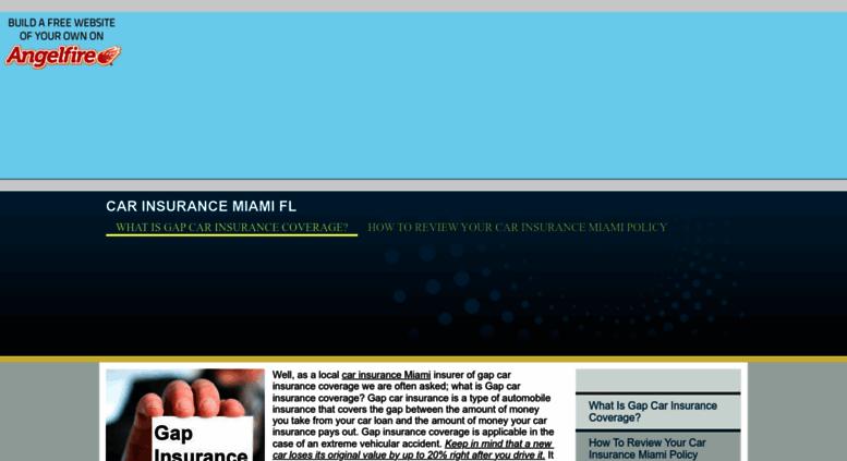 Access Carinsurancemiami Angelfire Com Car Insurance Miami What