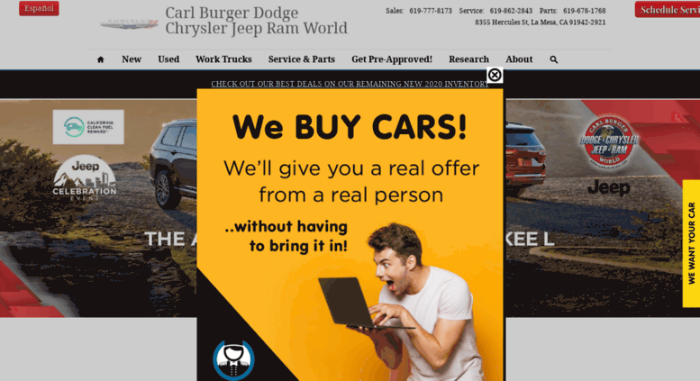 Carl Burger Dodge San Diego >> Access Carlburger Com San Diego Dodge Chrysler Jeep Ram Dealer
