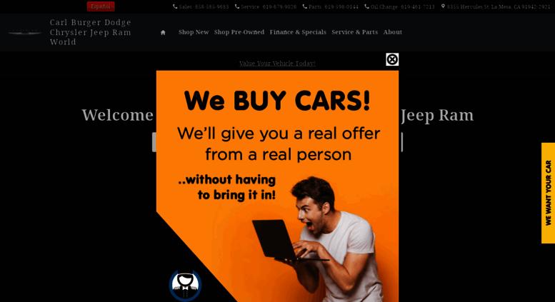 Carl Burger Dodge San Diego >> Access Carlburger Com San Diego Dodge Chrysler Jeep Ram