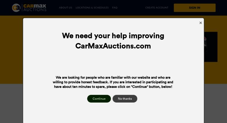 Access carmaxauctions.com. CarMax Auctions - Home