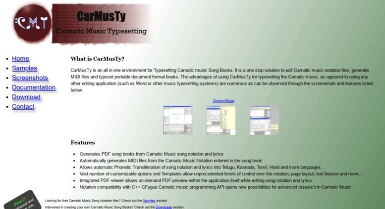 Access carmusty sourceforge net  CarMusTy: Create, Edit and Publish