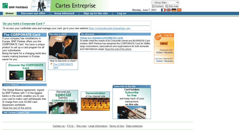 carte entreprise bnp paribas Access cartesentreprise.bnpparibas.com. BNP Paribas Corporate Cards