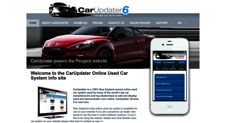 Access carupdater com  CarUpdater used car database software Car