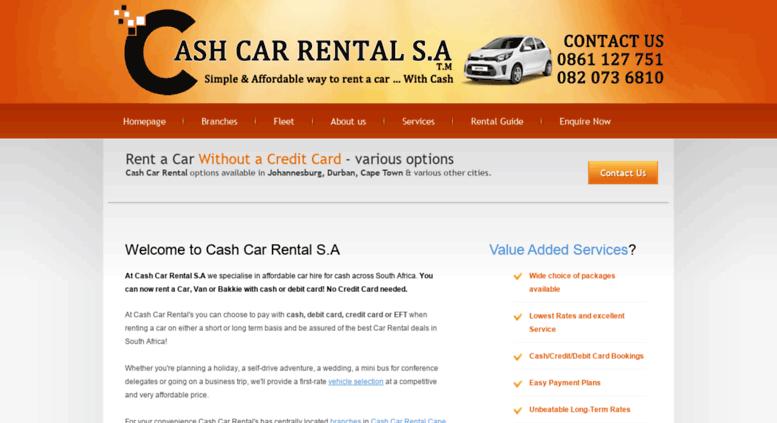 Cash Car Rentals >> Access Cashcarrentalsa Co Za Cash Car Rental Affordable Car Hire