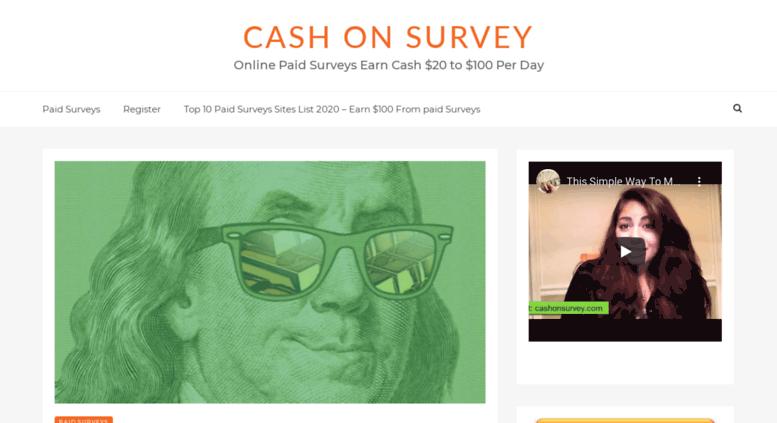 access cashonsurvey com cash on survey get paid to complete