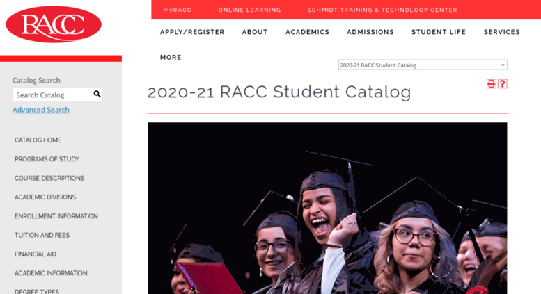 Access Catalograccedu Reading Area Community College Acalog Acms