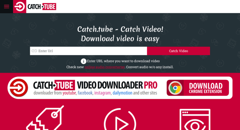 Access catch tube  Free Online Video Downloader  Catch Video From