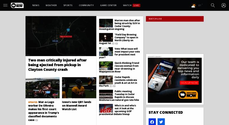 Access cbs2iowa com  Cedar Rapids News, Weather, Sports