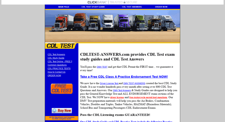 Access cdltest-answers com  CDL TEST ANSWERS - Driver