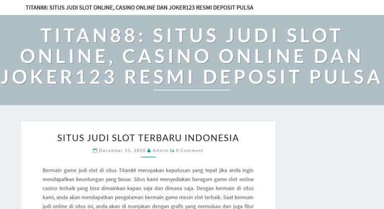 Access Ceniguinee Org Titan88 Situs Judi Slot Online Casino Online Dan Joker123 Resmi Deposit Pulsa