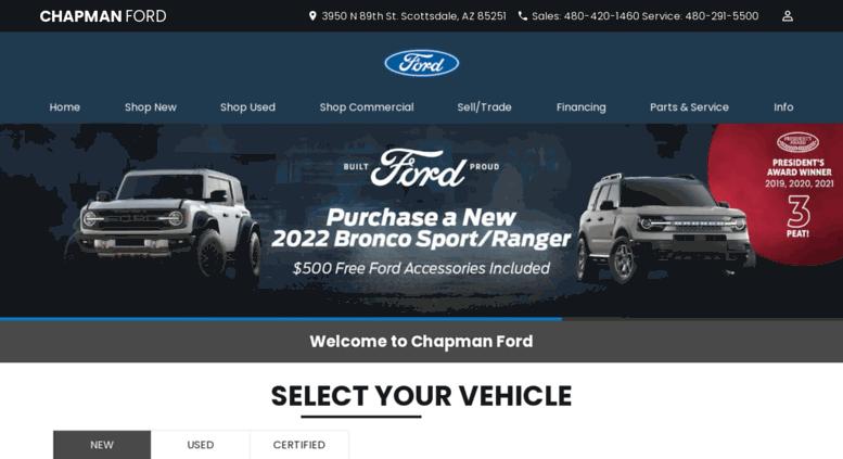 Chapman Ford Scottsdale >> Access Chapmanfordaz Com Chapman Ford Phoenix Ford Dealer