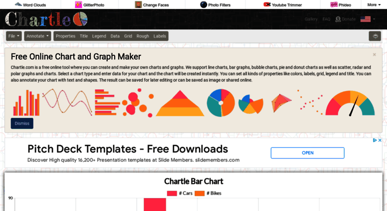 Access Chartle Online Charts Create And Design Your Own