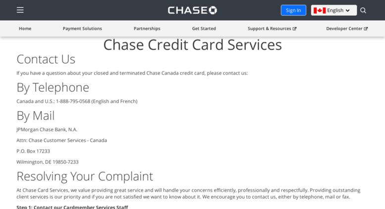 Chase Canada