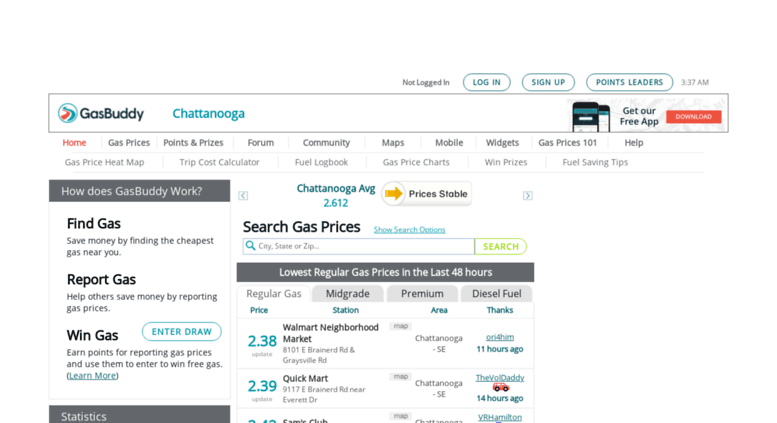 Gas Prices In Tennessee >> Access Chattanoogagasprices Com Chattanooga Gas Prices