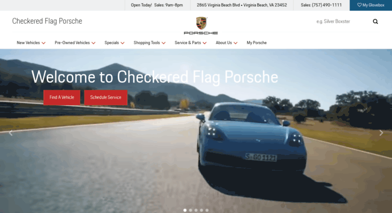 Porsche Dealers In Va >> Access Checkered Flag Porschedealer Com Checkered Flag