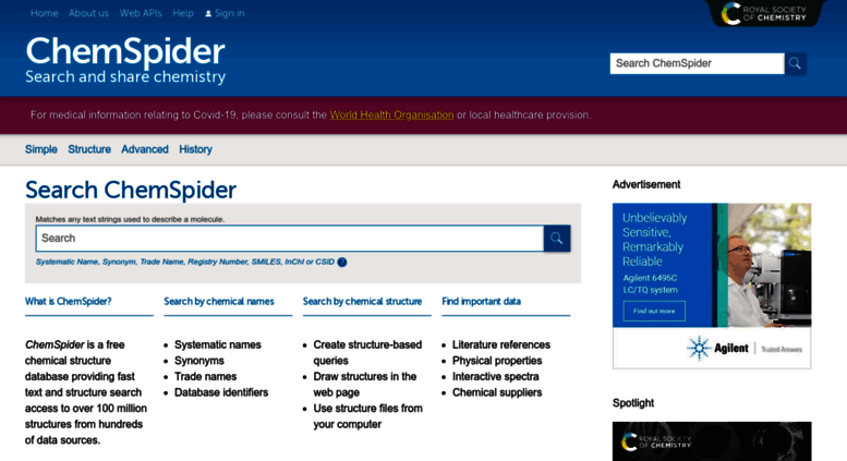 Access chemspider com  ChemSpider | Search and share chemistry