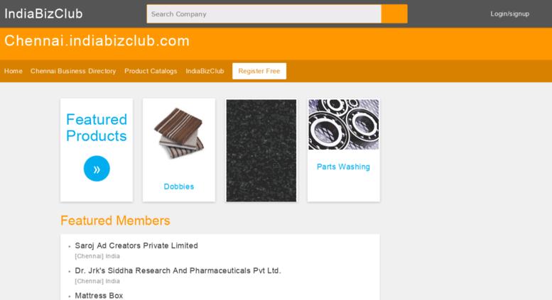 Access chennai indiabizclub com  Chennai business directory