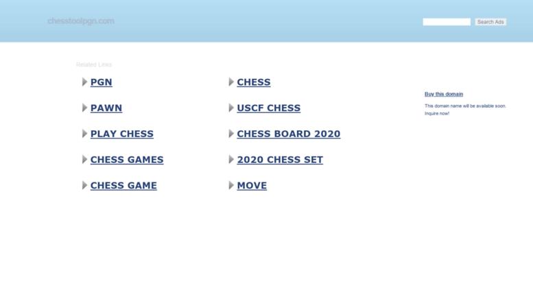 Access chesstoolpgn com  ChessTool PGN