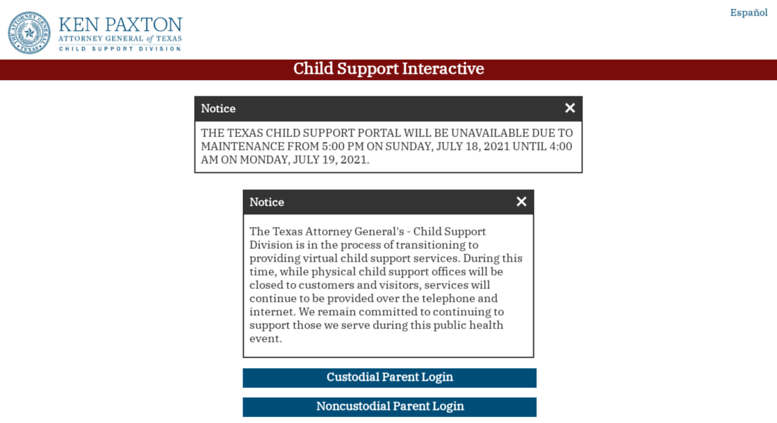 Access childsupport.oag.state.tx.us. Mobile Child Support ...