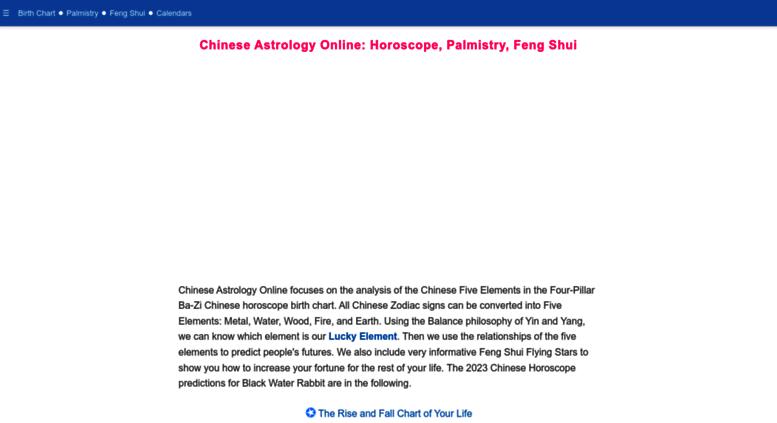 tsai chinese astrology