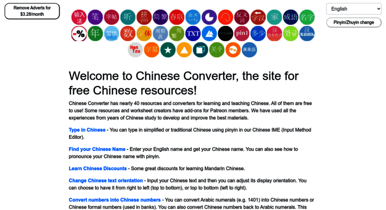 Chinese Converter Learn Tools
