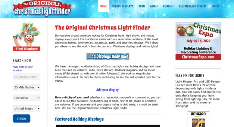 christmaslightfinder.com screenshot