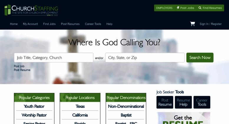 Access churchstaffing com  Resource for church jobs, pastor