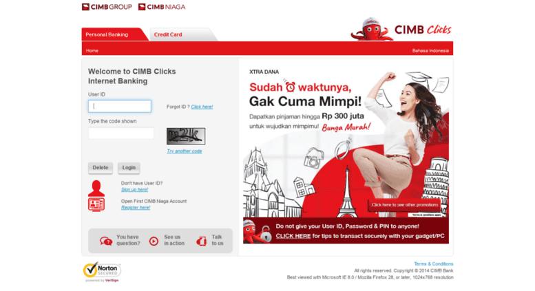 Access Cimbclicks Co Id Cimb Clicks