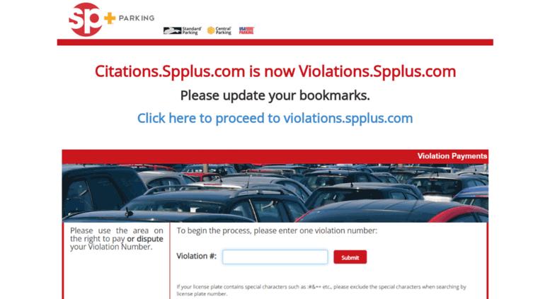 Access citations spplus com  SP+ | Parking Ticket Payments