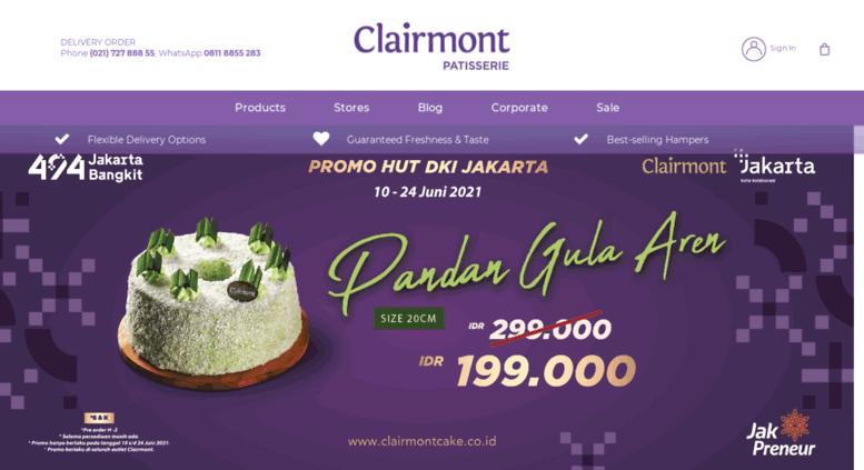 Access Clairmontcakecoid Clairmont Toko Kue Ulang Tahun