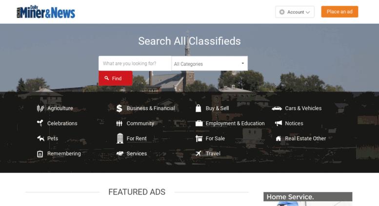 Access classifieds kenoradailyminerandnews com  Kenora Daily