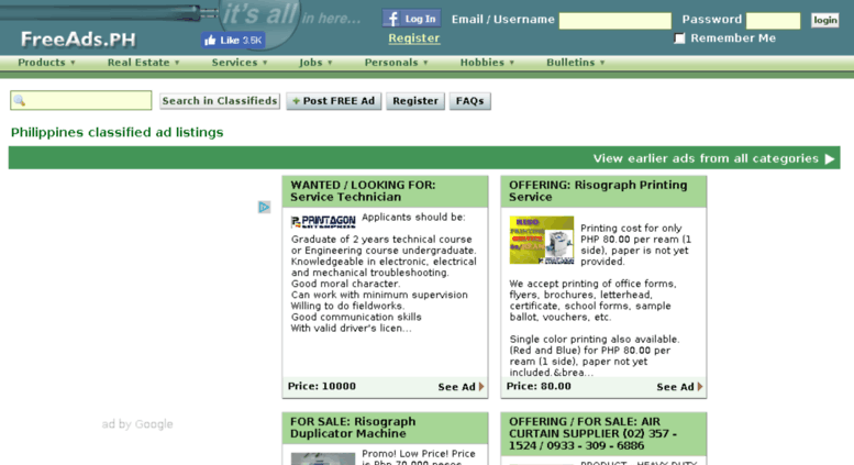 Access classifiedsph com  Classifieds - Philippines - Free Online