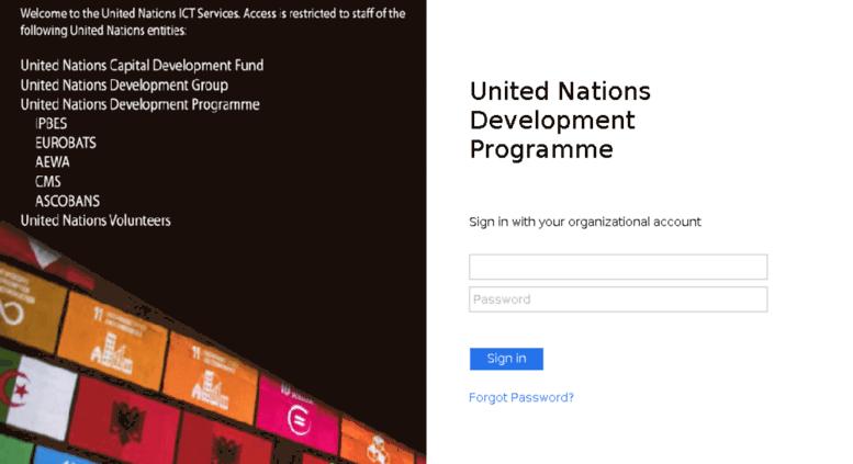 Access cloud undp org  Sign In