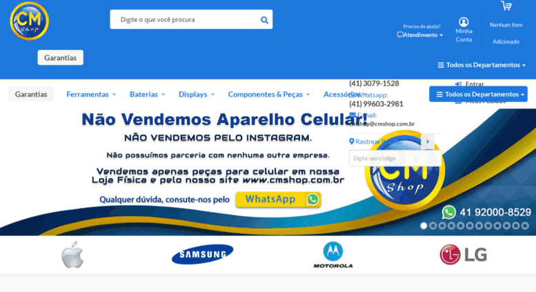 e275302d0be97 Access cmshop.com.br. CM SHOP - Curitiba - Distribuidora de Peças ...