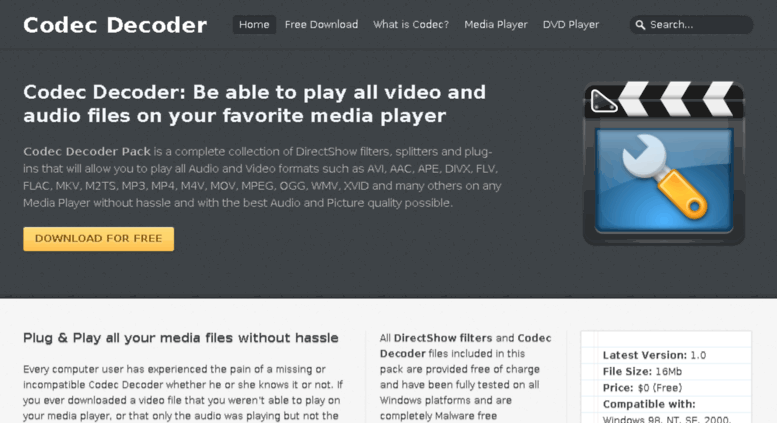 Download best free divx web player to play divx/divx plus videos.