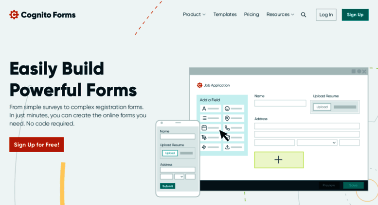 Access cognitoforms com  Free Online Form Builder, create HTML forms