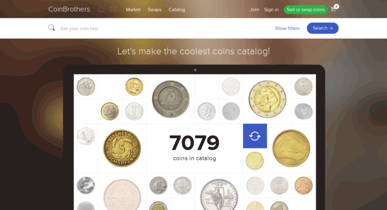 Access coin-brothers com  CoinBrothers | World Coins Catalog