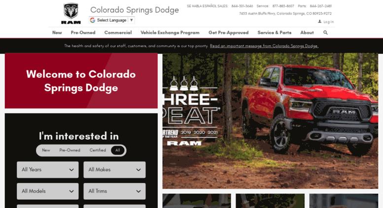 Colorado Springs Dodge >> Access Coloradospringsdodge Net Colorado Springs Dodge