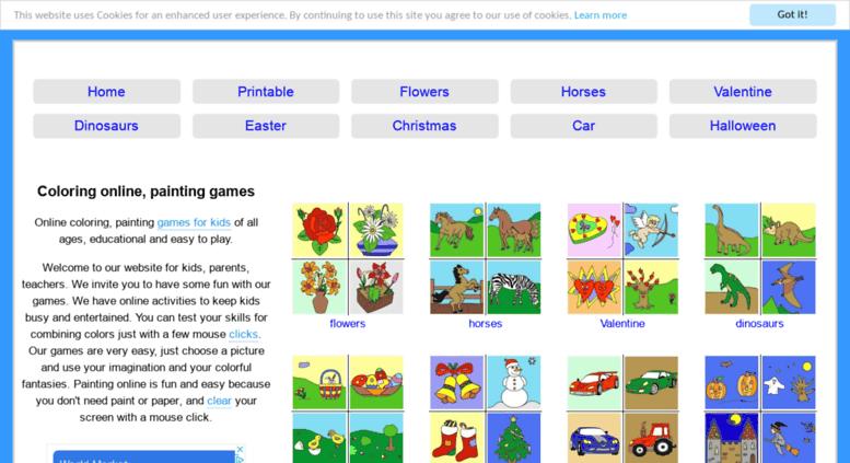 Access coloringpaintinggames.com. Coloring online, painting ...