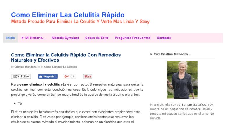 Como puedo eliminar las celulitis rapido