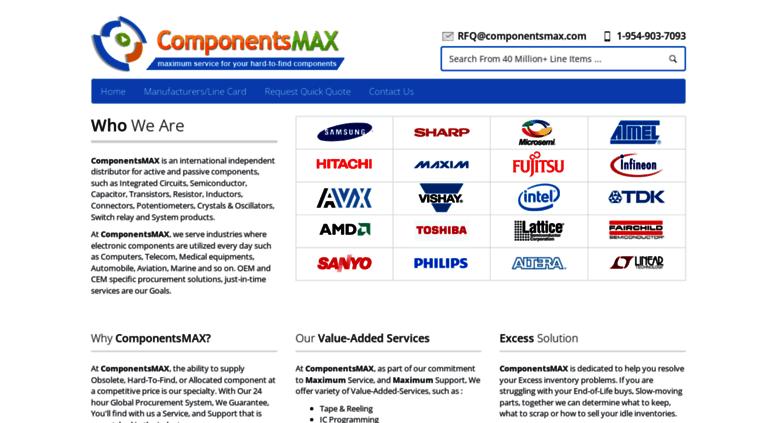Access componentsmax com  ComponentsMAX