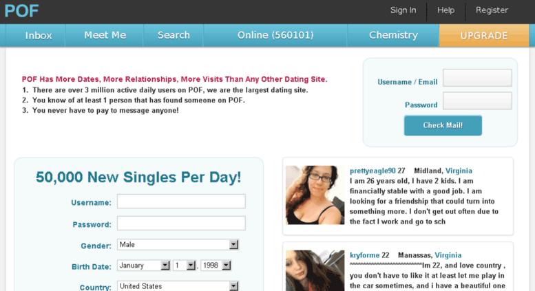 Pof.com online dating